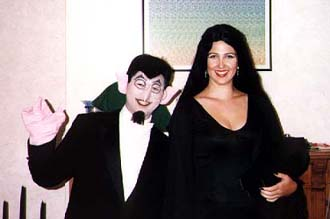 the Count and Morticia