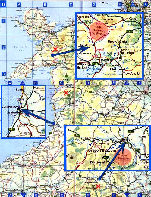 Wales Mission Map