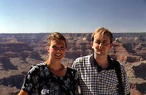 Marcus and Britta at the Grand Canyon